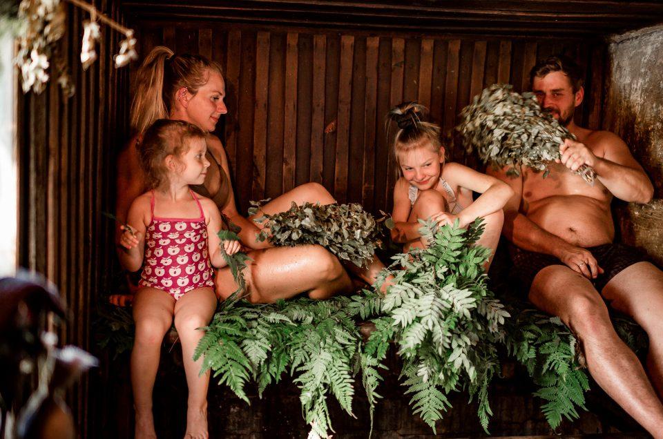 spa atpūta ģimenei ar bŗniem laukos